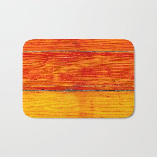 ORange wood Bath Mat