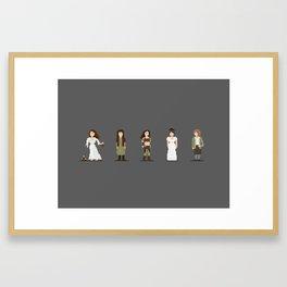 Pixel art of Keira Knightley Framed Art Print