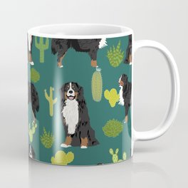 Bernese Moutnain Dog Cactus Print - bernese mountain dog, dog, cactus, arizona, desert Coffee Mug