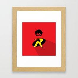 Robin Super Hero Framed Art Print