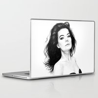 bjork Laptop & iPad Skins featuring Bjork by AnastasiumArt