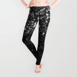 Black & Silver Glitter Gradient Leggings