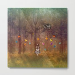 Wonderland Forest Metal Print