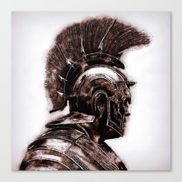 Portrait of a Roman Legionary Canvas Print