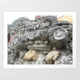 Stone curl Art Print