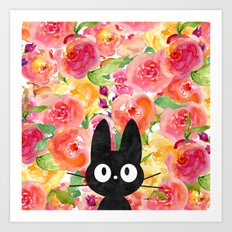Jiji in Bloom Art Print