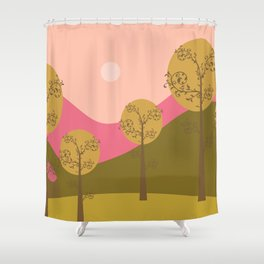 Kawai landscape autumn Shower Curtain