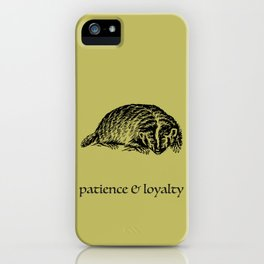 patience & loyalty (Hogwarts houses) iPhone Case