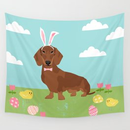 Dachshund dog breed easter pet portrait dog breed gifts pure breed dachsie doxie Wall Tapestry