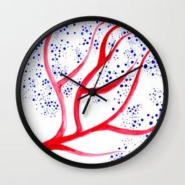 blue fruits Wall Clock