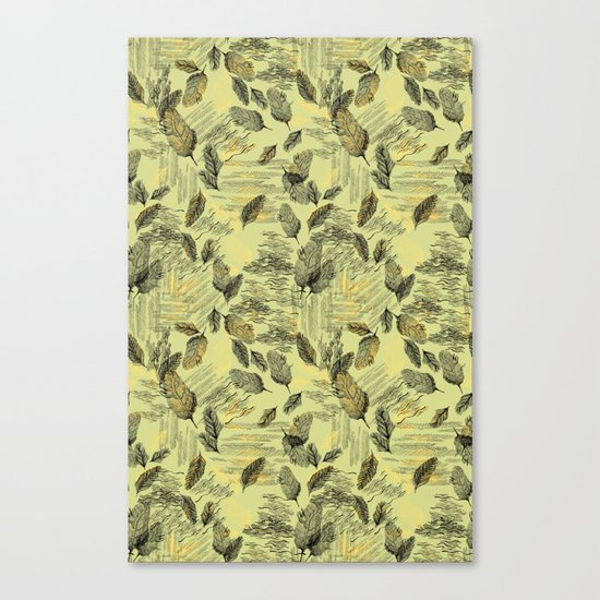 Seamless Blossom Pattern Canvas Print