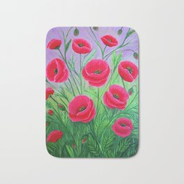 Poppies-8 Bath Mat