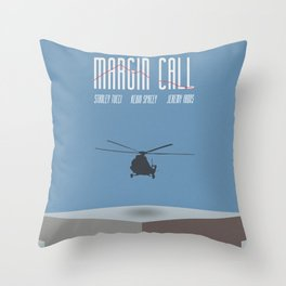 Margin Call, minimalist movie poster, Kevin Spacey, Stanley Tucci, Demi Moore Throw Pillow