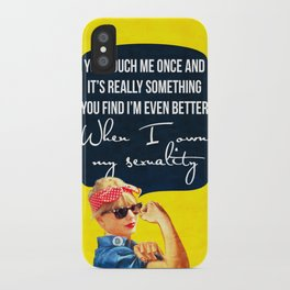 You touch me once and it's really something iPhone Case