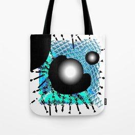 Blue and black Hole Tote Bag