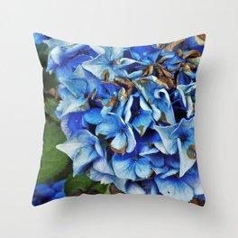 Bundles of Blue Throw Pillow