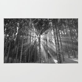 The Golden Light (Black and White) Rug