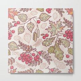 Colorful Autumn Leaves Metal Print