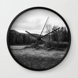 Fish Lake BW - Oregon Wall Clock