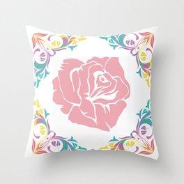 Large Rose Throw Pillow