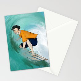 Percy Surfing Stationery Cards