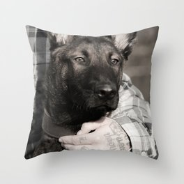Love and protection for humans and animals Throw Pillow