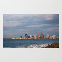 cleveland Area & Throw Rugs featuring Cleveland Rocks by GammaRayRobot