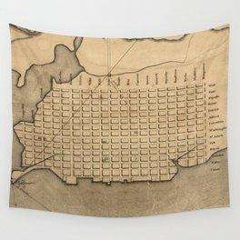 Vintage Map of Alexandria Virginia (1798) Wall Tapestry