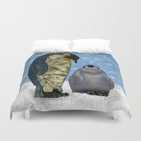virginia Duvet Covers featuring Emperor Penguins by Ben Geiger