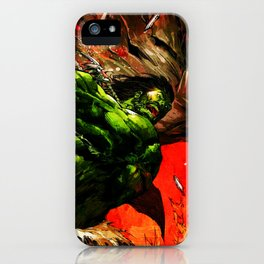 Rampage green full power iPhone Case