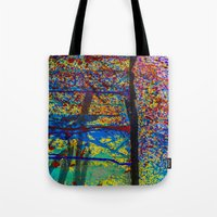 chaos Tote Bags featuring Chaos by Claire Doherty