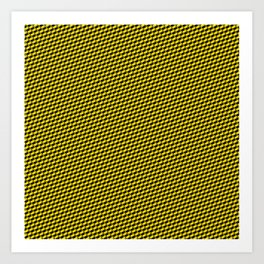Baby Sharkstooth Sharks Pattern Repeat in Black and Yellow Art Print