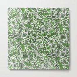 La Jungla Vocho [green+grey] Metal Print