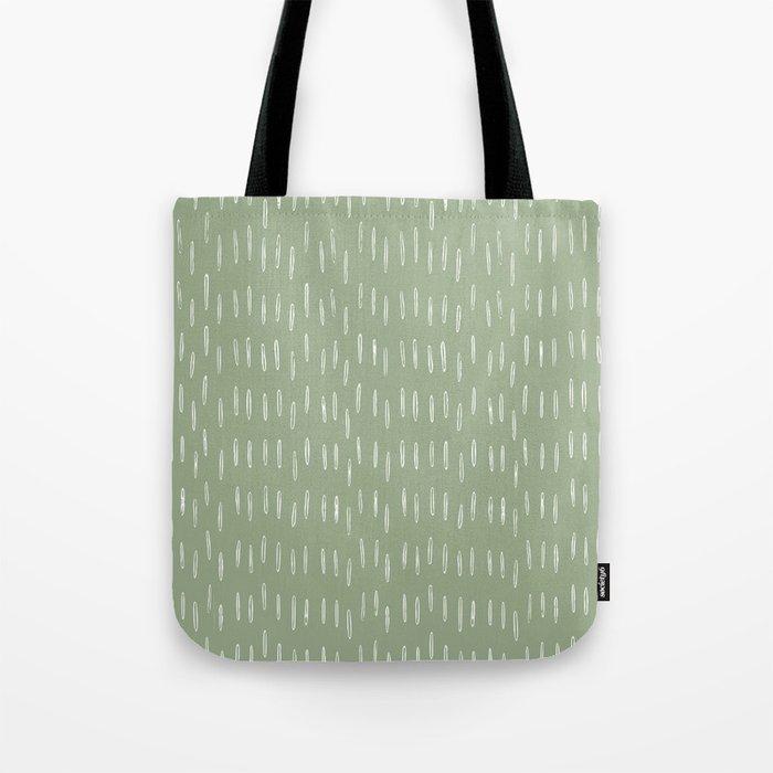 Raindrop Boho Abstract Pattern, Sage Green Tote Bag