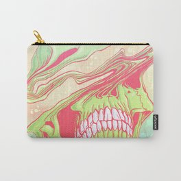 Liquify candy colored skull illustration  Carry-All Pouch