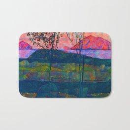 Egon Schiele Setting Sun Bath Mat