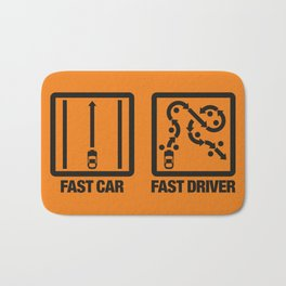 Fast Car - Fast Driver v2 HQvector Bath Mat