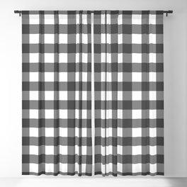 Black and White Vichy Print Blackout Curtain
