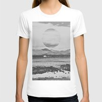 gray T-shirts featuring Gray Waterside by Jane Lacey Smith