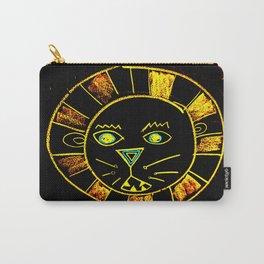 Neon Chalkboard Lion Face GRRR Carry-All Pouch