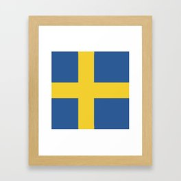 Sweden flag emblem Framed Art Print