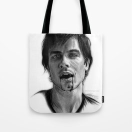 Damon Salvatore Drawing Tote Bag