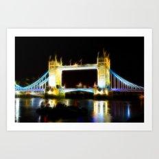 Tower Bridge Abstract Art Print