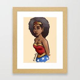 Wonder Chick Framed Art Print