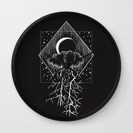 Bolt of lightning Wall Clock