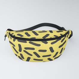 Black and yellow Fanny Pack