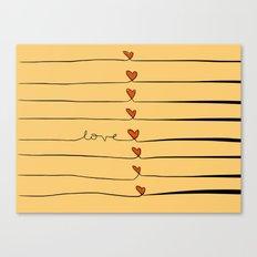 Lovelines Canvas Print