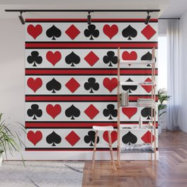 Four card suits Wall Mural