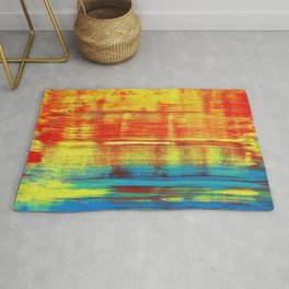 Sunny Sunset, Colorful Abstract Art Rug