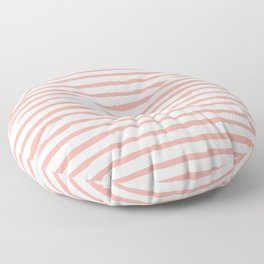 Pink Drawn Stripes Floor Pillow